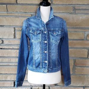🥀SILVER Jeans Denim Bling Jacket Boho Western S/P